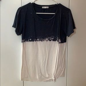 Distressed T shirt from Tillys